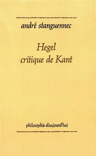 Hegel, critique de Kant