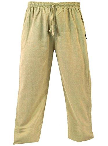 Guru-Shop Yogahose, Goa Hose, Herren, Beige, Baumwolle, Size:M (48), Männerhosen Alternative Bekleidung