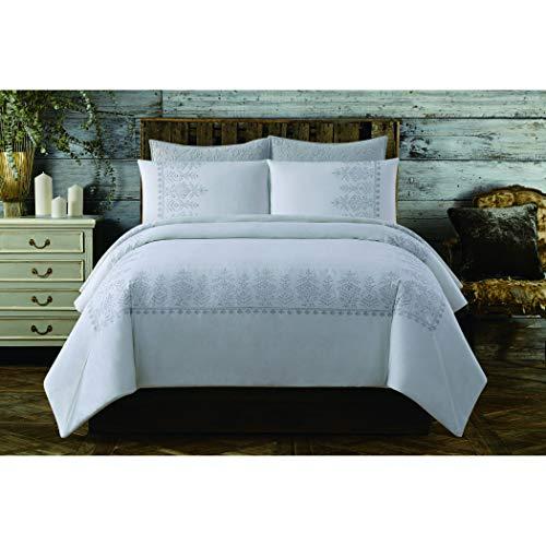 Cottage Classics Bordüre aus Baumwolle Bestickt Steppdecken-Set Twin XL weiß - Cottage Bed-twin Bed