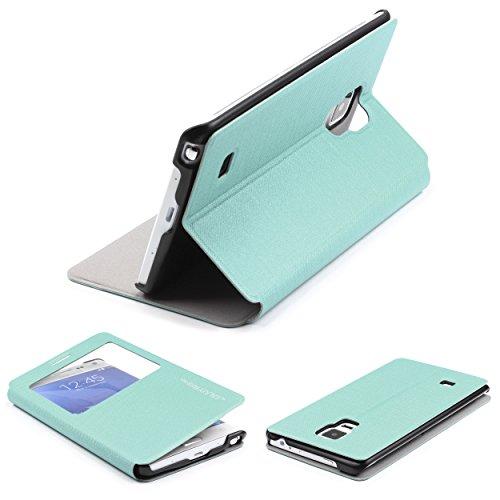Urcover® Galaxy Note Edge Hülle, Wallet mit [ Standfunktion ] Schutzhülle Case Cover Etui Ständer Aufsteller Handyhülle für Samsung Galaxy Note Edge Türkis
