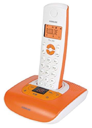 Schnurlos-Telefon AUDIOLINE \'\'Pro 280 Color\'\', DECT, ECO-Mode, mit Freisprechfunktion und AB, leuchtor