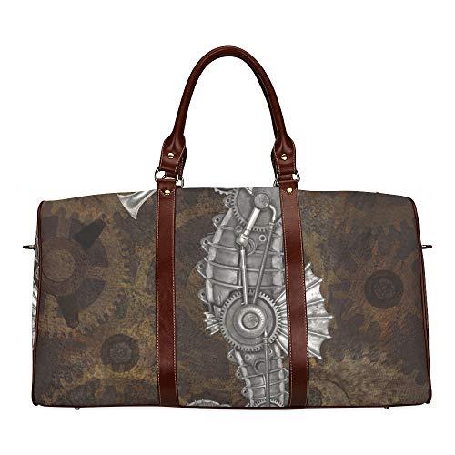 Reisetasche Steampunk Seepferdchen Mechanisch Tier Wasserdicht Weekender Bag Overnight Carryon Handtasche Frauen Damen Einkaufstasche Mit Mikrofaser Leder Gepäcktasche