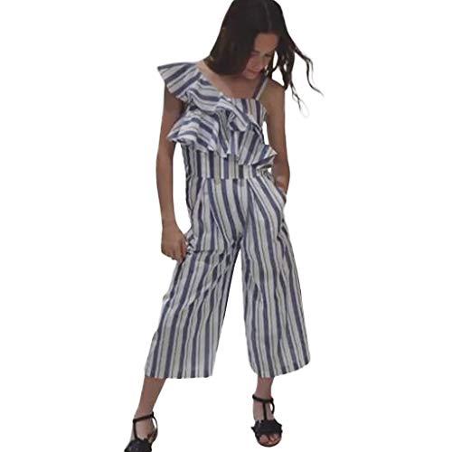 squarex Infant Baby Kids Girls Rüschenoverall Striped Bodysuit Romper Kinder Sleeveless Jumpsuit Kleidung Outfits Sommer T-shirt Infant Bodysuit