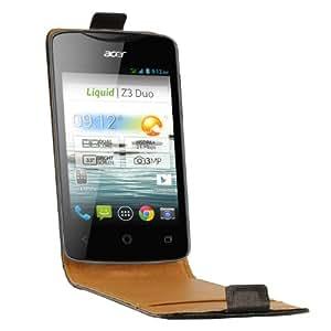 Swiss Charger SCP10132 Etui en cuir pour Acer Liquid Z3 Noir