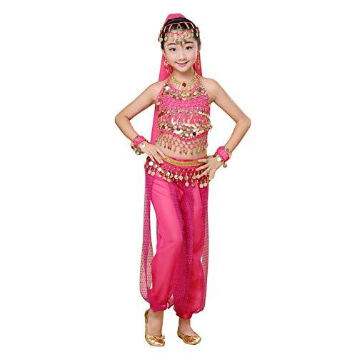 Gtagain Röcke Bekleidung Mädchen Kostüm - Ägyptischer Tanz Pailletten Indianer Halloween Einfarbig Karneval Performance Kleidung