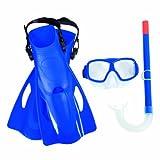 Bestway Sureswim 25019 - Set da immersione composto da pinne, maschera e boccaglio, per bambini