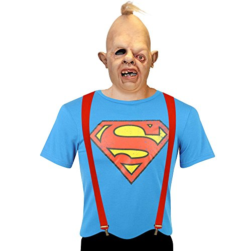 Kostüm Goonies Sloth Für Erwachsenen - ASVP Shop Adults Goonies Sloth Costume Including Mask, Red Braces and Superman T-Shirt (Large)