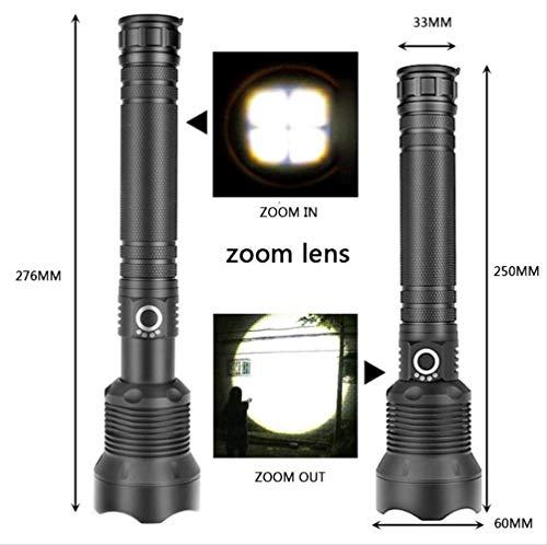 Xlamp Xhp70 De Alta Potencia Táctica Linterna Led Linterna Luz 26650 18650 Batería Linterna Camping