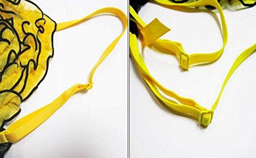 Pigiama Lingerie Sexy Tentazione Vestito Sexy Garza Pigiama Lingerie Per Adulti Set Di Due Pezzi Di Regali Di Natale Yellow