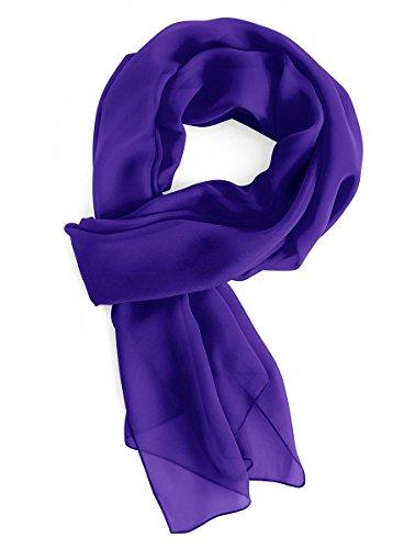 Gardenwed Damen Chiffon Schal Tücher Stola Scarves für Brautkleider Abendkleider in 28 Farben Royal Blue L (Farbe Brautkleider)