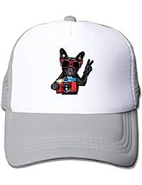 da4e4928b2fad Ejdkdo Black Dog Print Ajustable Camionero Sombreros para el Sol Malla  Deportes Gorras de béisbol Unisex37
