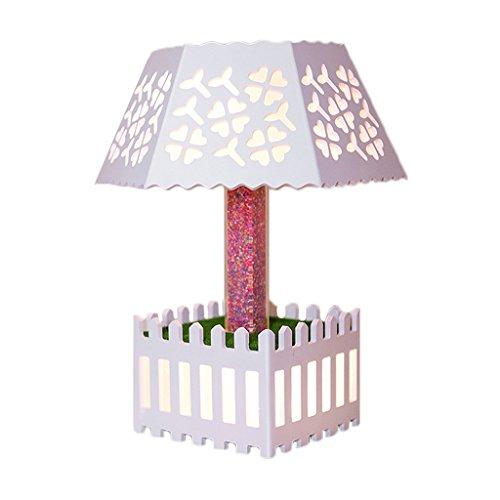 SYAODU lampe de bureau créative moderne Lampe de gravure creuse en PVC salon LED chambre bureau bureau éclairage de décoration AC110-240V télécommande commande de commutateur 5W (blanc)