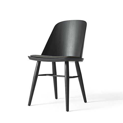 Menu Stuhl Synnes schwarze Esche gepolstert - Wolle - Esche Gepolstert Stuhl