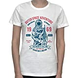 Outerspace Adventure. Born To Bee An Astronaut. The Moon Is Calling. Vintage Graphic Womens T-Shirt Small