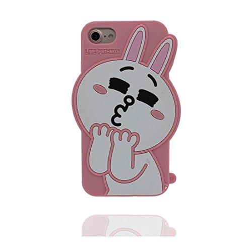 """iPhone 7 Plus (5.5 """") Coque, [ popcorn, pop-corn TPU Matériau Flexible ] Durable élégant étui, la poussière égratignures résistant, iPhone 7 Plus Case rose 2"""