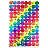 Most Popular Fun Sparkly Colourful Shimmer Effect Cute Stickers for Arts and Crafts, Phone Decoration, Scrap Book Decorations Classroom Reward Stickers School Teacher Kids