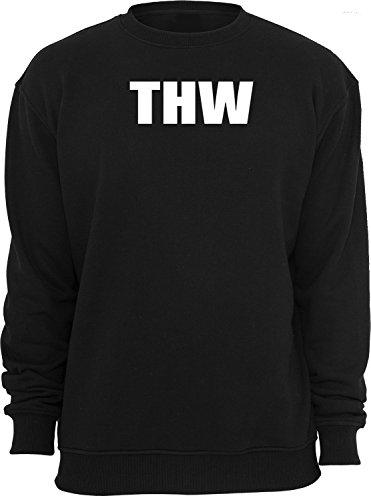 THW; Sweatshirt; schwarz; Unisex; 50/52; Gr. L