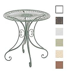 CLP Eisentisch Hari im Jugendstil I Gartentisch mit kunstvollen Verzierungen I erhältlich Antik Grün