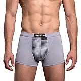 Dtuta Boxer Shorts pour Hommes Maille ThéRapie Confort Shorts Confort,sous-VêTements pour Hommes Sexy Respirant Taille Basse Cool Pack Pack Pack,Respirant