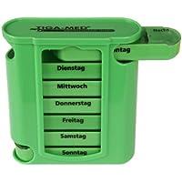 Medikamentendosierer grün Tablettenbox 4er Set (=4Stück) Tablettendosierer Pillendose 7 Tage Medikamenten Dosierer... preisvergleich bei billige-tabletten.eu