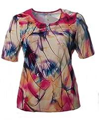 c7de219f346e9d Chalou Damen Kurzarm T-Shirt Pink Bunt Sommer-Mode Große Größen Elegant