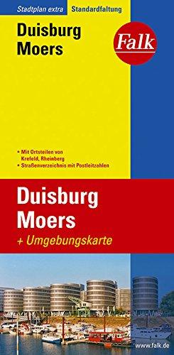 Falk Stadtplan Extra Standardfaltung Duisburg / Moers