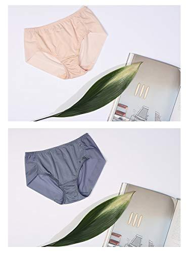 Antique Alive CLIVIA Cool Rayon Silk No Panty Line Unsichtbare Mid Waist Hipster Unterwäsche, 2er-Pack - Beige - Groß - 3