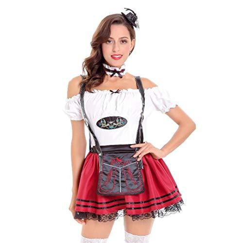 Notdark Damen Oktoberfest Cosplay Kostüm Bayerisches Bier Mädchen -