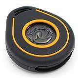 Cover in silicone per chiave per moto Keyless Go nero/arancione
