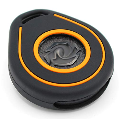 Silicone HAB Motorcycle Key Cover, Keyless Go Black, Orange