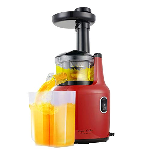 Taylor Swoden Jazz - Entsafter, Slow Juicer, Anti-Oxidation Juicer Extractor, Saftpresse Obstpresse,Ruhiger Motor und Ein-Knopf-Reinigung Funktion,Leicht mit Pinsel zu reinigen,BPA frei