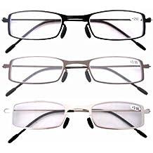 Eyekepper Readers occhiali da lettura grandi tondi di qualità cardine a molla blu +2.0 6yTJC