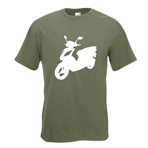 KIWISTAR - Scooter Custom Roller T-Shirt in 15 verschiedenen Farben - Herren Funshirt bedruckt Design Sprüche Spruch Motive Oberteil Baumwolle Print Größe S M L XL XXL Olive
