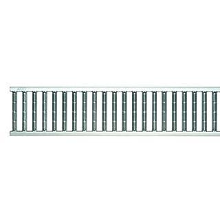 ACO Self® Stegrost 1000mm Stahl verzinkt frostbeständig | geringes Gewicht bei hoher Festigkeit | schraublose Arretierung