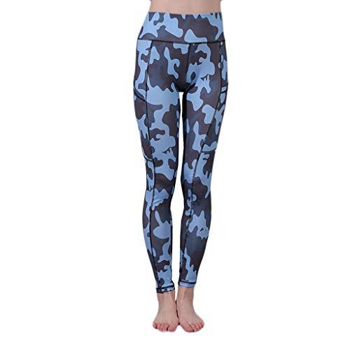 CAOQAO Sport Leggins FüR Camouflage Hose Damen Sexy Leggings Elastische Yogahose Laufhose Strumpfhose Workout Sportkleidung Damen Fitness Mode BeiläUfig
