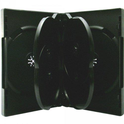 10 Xlayer DVD CD Hüllen 6fach 6er-DVD-Box schwarz eco (Eco Cd-hüllen)