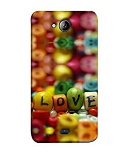 Printvisa Designer Back Cover for Micromax Unite 3 Q372, Micromax Q372 Unite 3 (Love Colorful Alphabet Text Reflect Design Beautiful Color)