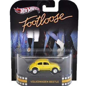 FOOTLOOSE Volkswagen Beetle Yellow Bug Hot Wheels Retro 1:64
