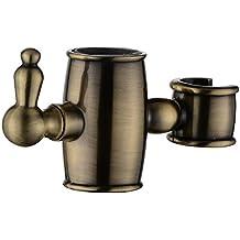 ENKI soporte deslizante para alcachofa para columna de ducha redonda bronce