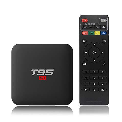 Docooler T95 S1 Android 7.1 TV-Box Amlogic S905W Smart-TV-Set Top-Box-Sprachfernbedienungs-Viererkabelkern H.265 1 GB / 8 GB 2,4 G WiFi 100 M LAN HD Media Player LED-Anzeige