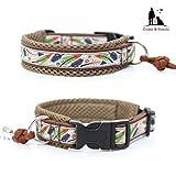 Hundehalsband - Federleicht, Halsband, wahlweise mit Gravur, Unterfütterung und weiteren Extras