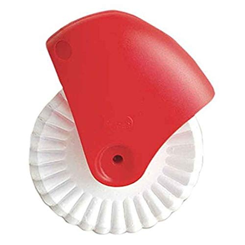 Maayun Pizza-Gebäckgitterschneiderausschnittrad Gebäckkuchenrollendekorationsschneiderplastikradrollenpizza-Schneidwerkzeug (1pc Gebäck-Gitterschneider)