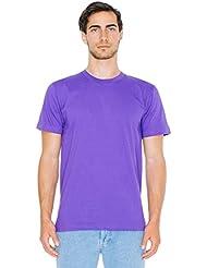 American Apparel Fine Jersey Short Sleeve T-Shirt - Purple / M