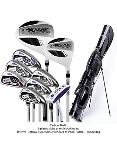 HDPP Golfschläger GolfDamen Damen Golfeisen Schläger Komplettsets Damen Golfschläger Voll9 pics Carbon T
