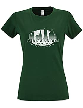 CRAIGH Na Dun Travel CO. Mujer Girlie Women T-Shirt – Tamaños XS – 2XL