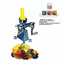 Kalsi Hand Operated Manual Citrus juicer for Fruits,Aluminium,Best Quality with Plastic Plunger(Size - 3).(Free 1pce 225ml jar of Brand AQBAH,Model - YASH, Random Color).