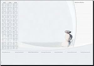 Sigel HO370 Sous-main papier avec calendrier sur 3 ans, 59,5 x 41 cm, pierres, 30 feuilles