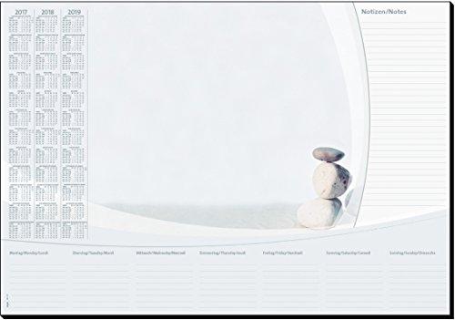 Sigel HO370 Papier-Schreibunterlage mit 3-Jahres-Kalender und Wochenplan, 59,5 x 41 cm, 30 Blatt