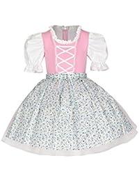 """tanzmuster Kinder Trachtenkleid / Dirndl Tutu """"Ballerina"""" mit Tüllrock und Schürze (2-teilig) - Zauberhaftes Tüllkleid für kleine Ballerinas."""