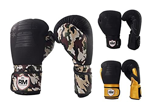 Boxing Gloves CarbonTECH Leather Kickboxing MMA Fight Punch Bag Mitts
